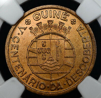 Guinea-Bissau 50 Centavos (1946) MS64 RD NGC bronze KM#6 Discovery 500th Ann 50C