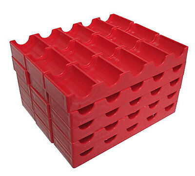 15 Token Racks Poker Chips Red Trays Racks Holds Slot Tokens FREE SHIPPING *