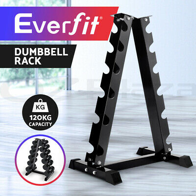 Everfit 12KG Dumbbell Set Kit Rack Weights Pairs Gym Home Exercise Fitness