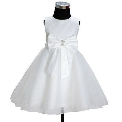 New Ivory Flower Girl Party Bridesmaid Wedding Pageant Dress 6-7 Years