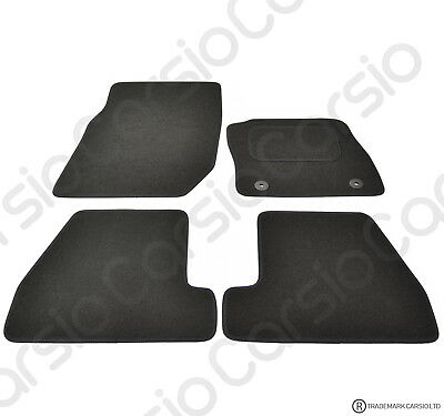 Ford Focus MKIII 2011 - 2014 Tailored Black Car Floor Mats Carpets 4 Piece Set