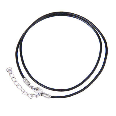 10pcs 2mm Round Leather Cord String Rope Lobster Clasp for DIY Necklace Craft