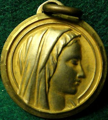OUR LADY OF FATIMA / APPARITION Vtg LARGE MEDAL