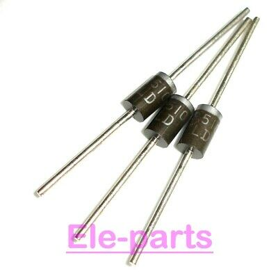 25 Pcs Sr5100 5A 100V Schottky Barrier Rectifiers