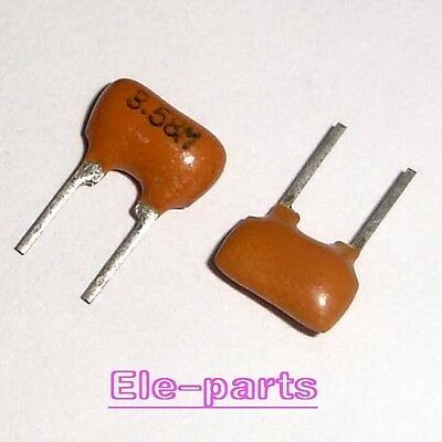 10 PCS 3.58MHz 3.58M 2Pin Ceramic Resonator