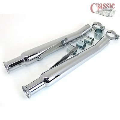 1970's CUSTOM RETRO STYLE SILENCERS / MUFFLERS TO SUIT CLASSIC MOTORCYCLES