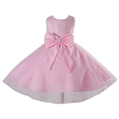 New Pink Flower Girl Party Pageant Bridesmaid Dress 4-5 Years