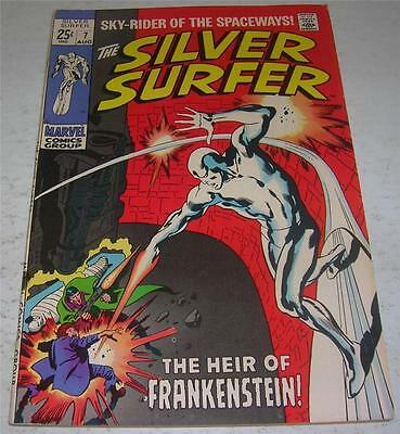SILVER SURFER #7 (Marvel Comics 1969) Early cameo FRANKENSTEIN'S monster (FN/VF)