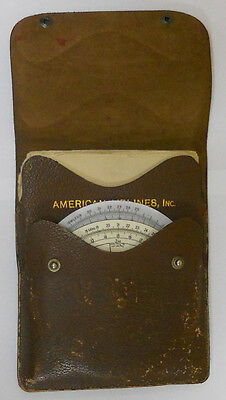 1942 AMERICAN AIRLINES NAVIGATIONAL COMPUTERS w/ manual and case