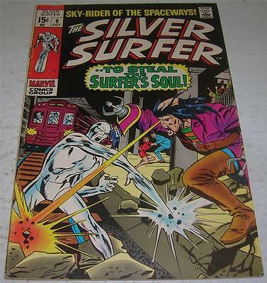 SILVER SURFER #9 (Marvel Comics 1969) MEPHISTO appearance (VG+) Stan Lee story