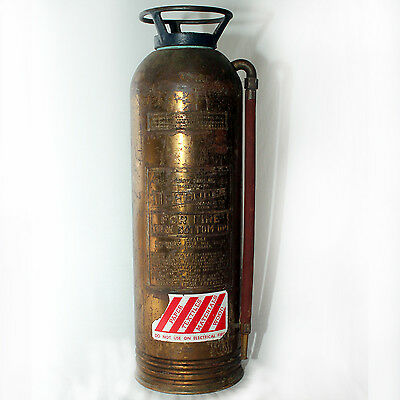 Vintage Defender Brass and Copper Fire Extinguisher Collectable Display Antique