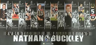 "Collingwood Magpies Nathan Buckley ""Evolution of a Legend"" Un-Framed Print"