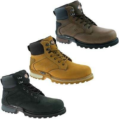 Mens Dickies Canton Safety Boots Size Uk 5.5 - 12 Honey Brown Black Fd9209