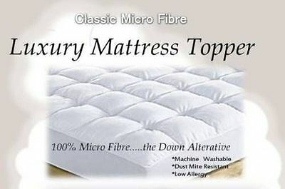 Luxury Classic Microfibre Mattress Topper 600 gsm Fully fitted with 40cm Skirt