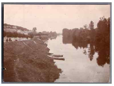 France, Poissy, Panorama  Vintage silver print Tirage argentique  8x11  Ci