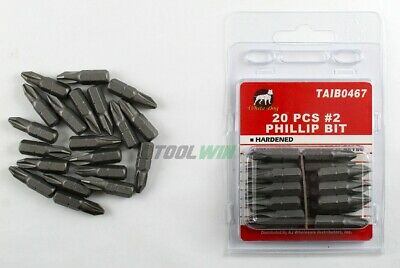 "20pc Phillips #2 Screw Driver Bit Tip 1"" Drywall 1/4 Hex Shank Quick Release PH2"