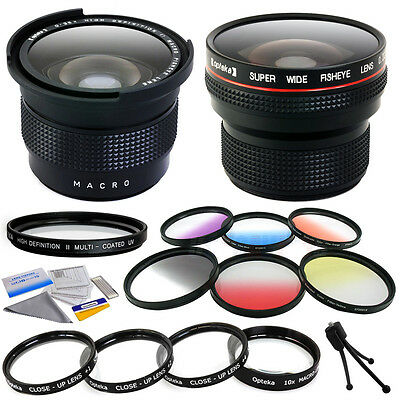 Lenses + Filters Accessories for 58MM Canon EF 100mm, 24mm, 28mm IS USM - f/2.8