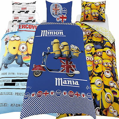 Despicable Me 2 Minions Single / Double Panel Duvet Cover Bed Set Gift New Gift