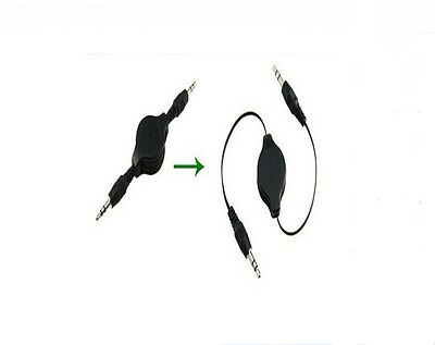 New 3.5mm Cable Hot Sell Black Aux Retractable Auxiliary Cord For iPod Car MP3 u