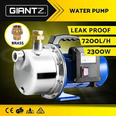 2300W High Pressure Stage Jet Water Pump Rain Tank Pond Garden Irrigation