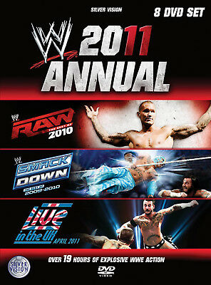 WWE 2011 ANNUAL Best Of Raw & Best Of Smackdown & Live In The UK 2010 8x DVD