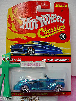 2007 Hot Wheels S3 Classics #5 '40 FORD CONVERTIBLE☆ICE BLUE☆Series 3