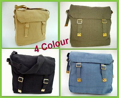 New Heavy Duty Canvas Messenger Shoulder Bag Cross-Body Travel Carry Tote 4Color