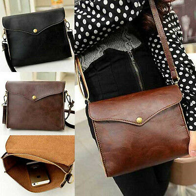 PU Leather Shoulder Bags Satchel Clutch Womens Handbag Tote Purse Girl Messenger