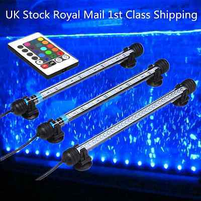 Aquarium Fish Tank LED Lighting RGB or Blue / White light Underwater Submersible