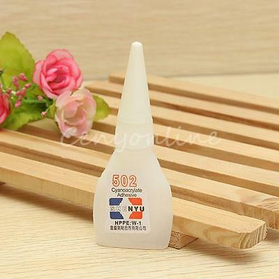 New 502 Super Glue Cyanoacrylate Adhesive Strong Bond Fast Repair Tool Craft 10g