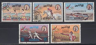 Bahrain 1984 Mi.346/50 fine used Olympic Games Olympische Spiele (g1022)