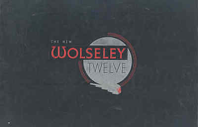1938 Wolseley Twelve Saloon Prestige Brochure wu3358