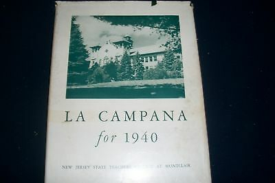 1940 La Campana Nj State Teachers College Yearbook Montclair New Jersey - Yb 31