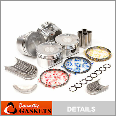 Fit 98-02 Honda Accord Acura CL 2.3L SOHC Pistons&Bearings&Rings Set F23A1 F23A4