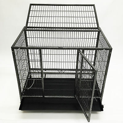 "37"" Heavy Duty Metal Dog Pitbull Cage Crate Kennel Playpen FOR DOGS 42 to 70 LBS"