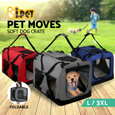 iPET Pet Soft Crate Portable Dog Cat Carrier Travel Cage Kennel Foldable