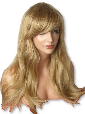 Blonde Brown Wig Fashion Wig Long Wavy party cosplay Ladies Hair Wig C8