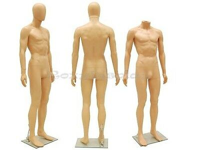 Unbreakable Male Plastic Durable Mannequin Display Dress Form PS-SM1FEG