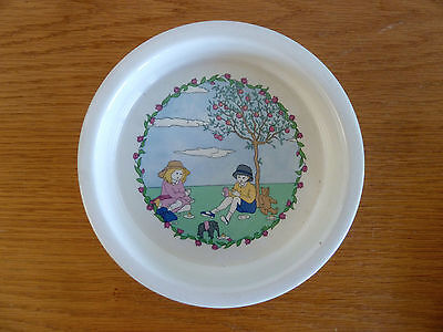 Laura Ashley Playtime Vintage Childs China Bowl  Apple Tree Toys 6 3/4""