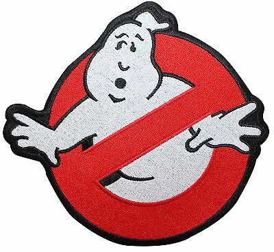 Larger Ghostbusters No-Ghost Sign Movie Logo Embroidered Iron On Applique Patch