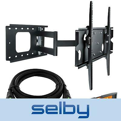 "37-60"" Inch LCD LED Plasma TV Wall Mount Corner Swivel Bracket + 2m HDMI Cable"