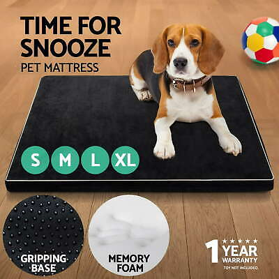 i.Pet Pet Bed Mattress Memory Deluxe Soft Foam Dog Cat Pad Warm Cushion S M L XL