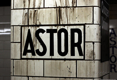 Astor Place Subway Station NYC Poster - 19x13