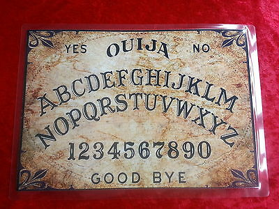Seance Magic Old World Ouija Board laminated sheet fortune telling Halloween