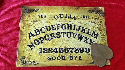 Seance Twin Globes Ouija Board laminated sheet + Dark Planchette Fortune telling