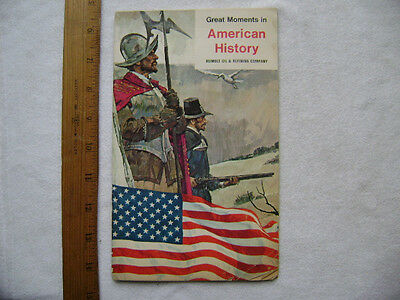 1969 Great Moments in American History. Humble Oil Give-Away Stamp Book.