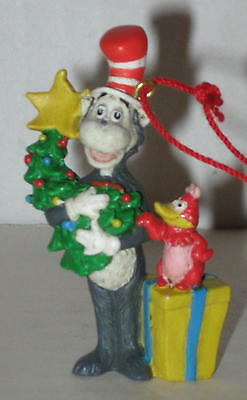 """Dr Seuss Cat In the Hat Ornament Approx 2"""" MIB"""