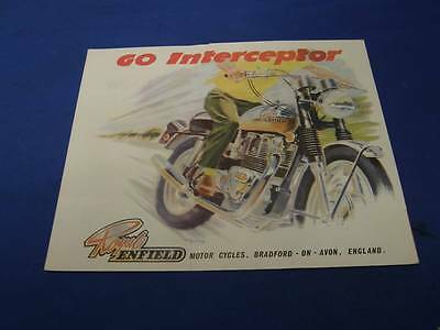 Original Royal Enfield Magazine Ad Brochure Seven-fifty interceptor 1970s ads388
