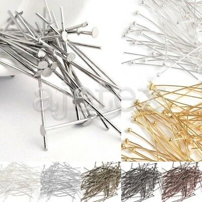 30g Silver Golden Head/Ball Pins Finding 21 Gauge 14-70mm Choose Finding Craft