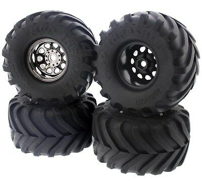 HPI 1/12 Wheely King 4x4 * MUD THRASHER TIRES & CLASSIC KING 12mm HEX WHEELS *